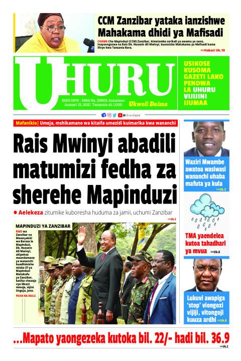 Rais Mwinyi abadili fedha za sherehe Mapinduzi   Uhuru