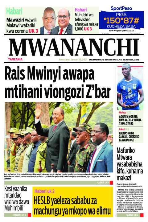 RAIS MWINYI AWAPA MTIHANI VIONGOZI Z'BAR  | Mwananchi