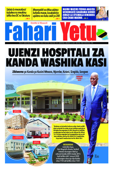 UJENZI HOSPITALI ZA KANDA WASHIKA KASI | Fahari Yetu