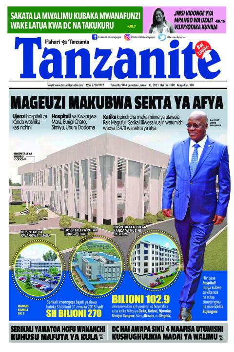 MAGEUZI MAKUBWA SEKTA YA AFYA | Tanzanite