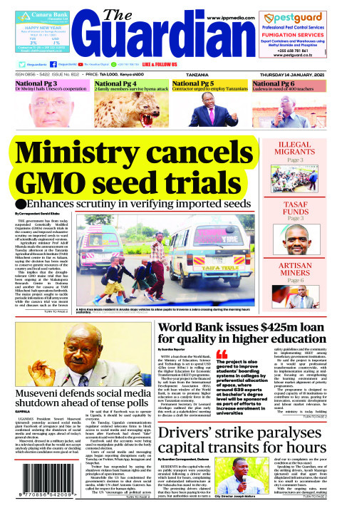Ministry cancels GMO seed trials | The Guardian
