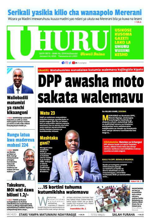 DPP awasha moto sakata la walemavu   Uhuru