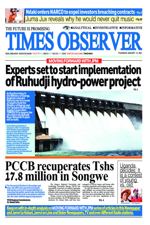 Experts set to start implementation of Ruhudji hydro-power  | Times Observer