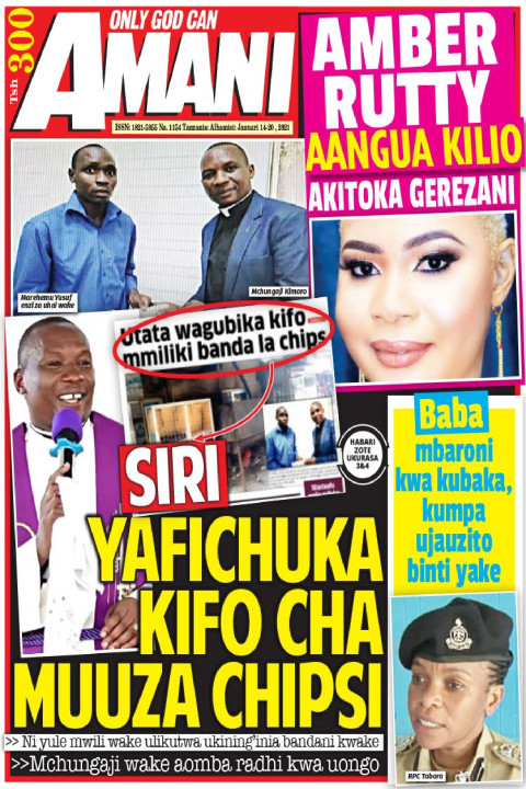 SIRI YAFICHUKA KIFO CHA MUUZA CHIPS | AMANI