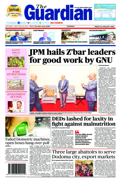 JPM hails Z'bar leaders for good work by GNU | The Guardian