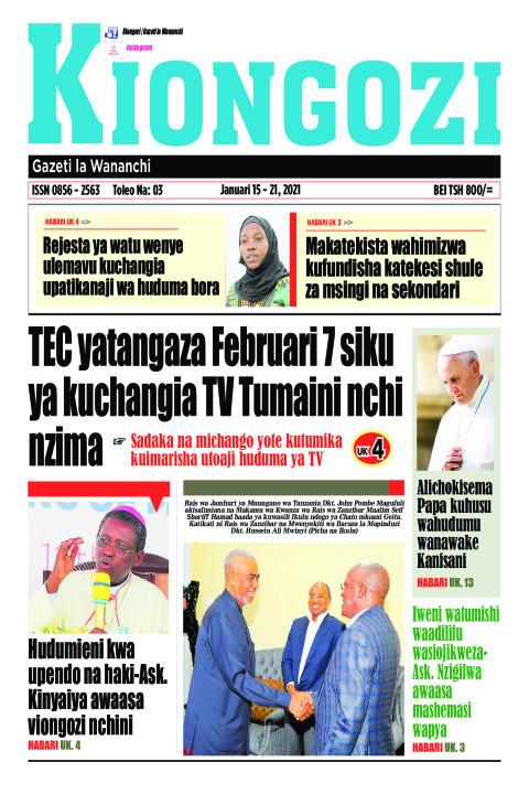 TEC yatangaza Februari 7 siku ya kuchangia TV Tumaini nchi | Kiongozi