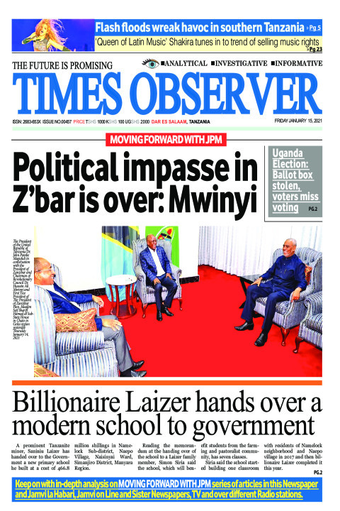 Political impasse in Zanzibar is over: Mwinyi | Times Observer