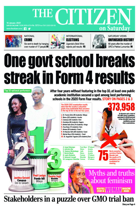 ONE GOVT SCHOOL BREAKS STREAK IN FORM 4 RESULTS