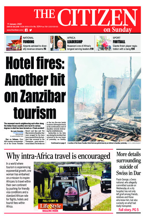 HOTEL FIRES:ANOTHER HIT ON ZANZIBAR TOURISM