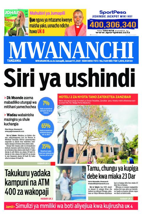 SIRI YA USHINDI  | Mwananchi