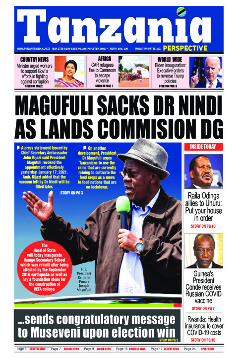 MAGUFULI SACKS DR NDIDI AS LANDS COMMISION DG  | Tanzania Perspective