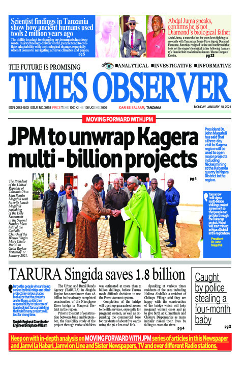 JPM to unwrap Kagera multi - billion projects | Times Observer