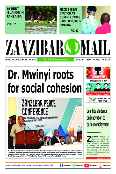 Dr. Mwinyi roots for social cohesion | ZANZIBAR MAIL