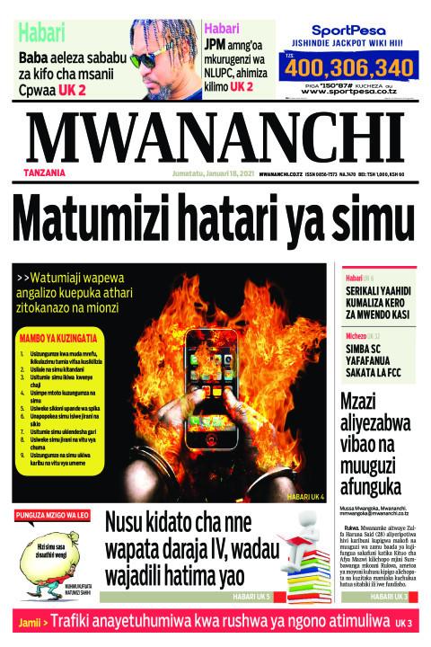 MATUMIZI HATARI YA SIMU  | Mwananchi