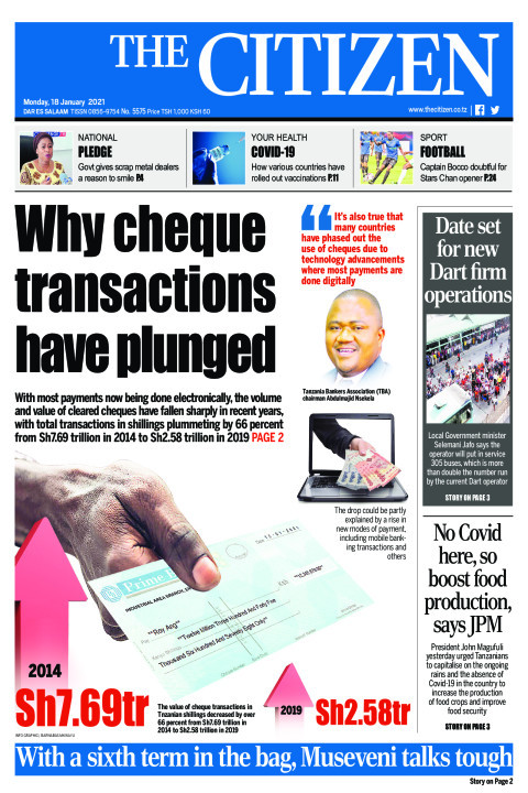 WHY CHEQUE TRANSACTIONS HAVE PLUNGED | The Citizen