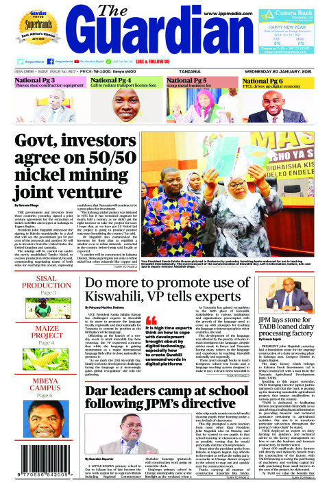 Govt, investors agree on 50/50 nickel mining joint venture | The Guardian