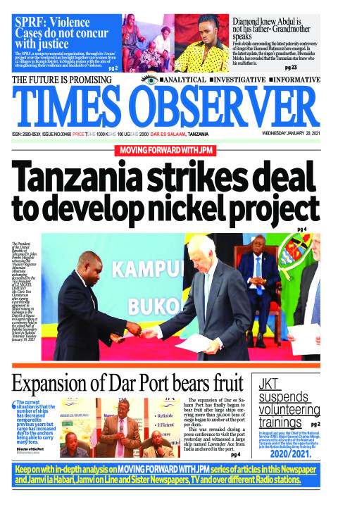 Tanzania strikes deal to develop nickel project | Times Observer