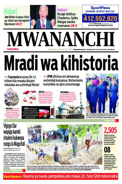 MRADI WA KIHISTORIA  | Mwananchi