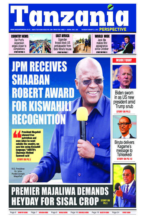 JPM receives shaban Robert award for kiswahili recognition | Tanzania Perspective