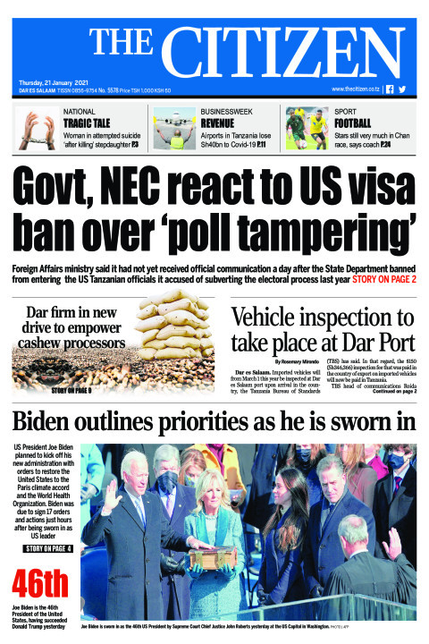 GOVT,NEC REACT TO US VISA BAN OVER 'POLL TAMPERING'