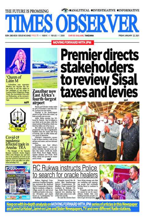 Premier directs stakeholders to review Sisal taxes and levie | Times Observer