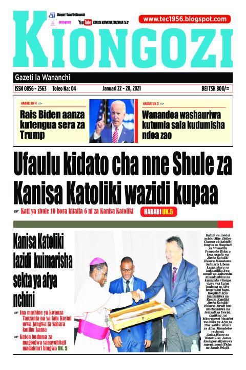 Ufaulu kidato cha nne Shule za Kanisa Katoliki wazidi kupaa | Kiongozi