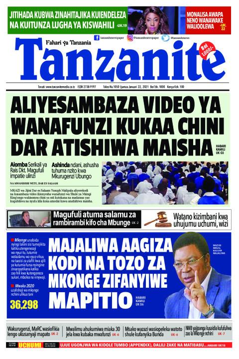ALIYESAMBAZA VIDEO YA WANAFUNZI KUKAA CHINI DAR ATISHIWA M | Tanzanite