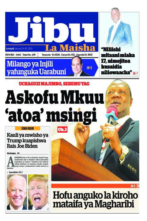 Askofu Mkuu 'atoa' msingi | JIBU LA MAISHA