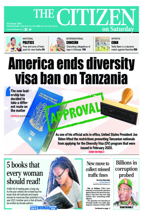 AMERICA ENDS DIVERSITY VISA BAN ON TANZANIA