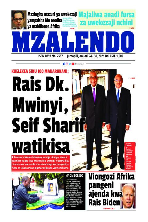 Rais Dk. Mwinyi, Seif Sharif watikisa | Mzalendo