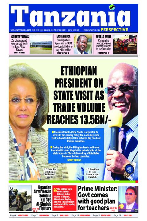 Ethiopian President on state visit as trade volume reaches 1   Tanzania Perspective