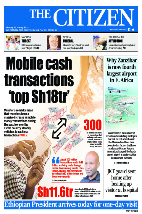 MOBILE CASH TRANSACTIONS 'TOP SH18TR' | The Citizen