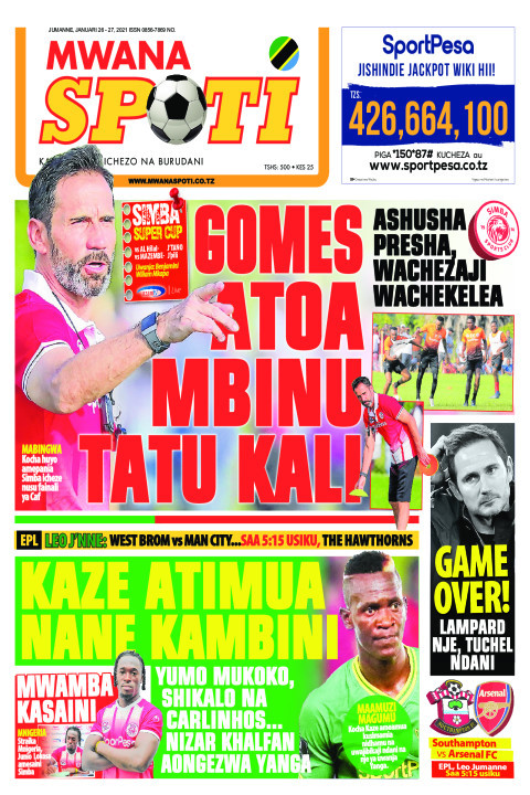 GOMES ATOA MBINU TATU KALI  | Mwanaspoti