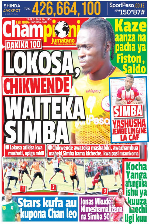 LOKOSA, CHIKWENDE WAITEKA SIMBA | Champion Jumatano