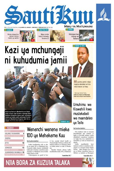 Kazi ya mchungaji ni kuhudumia jamii | Sauti Kuu Newspaper