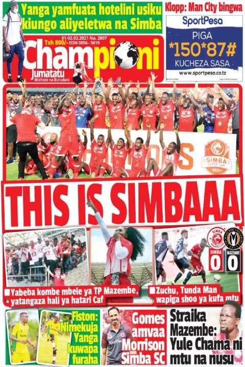 THIS IS SIMBAAA | Champion Jumatatu
