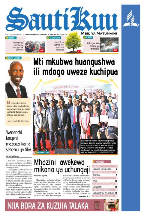 MTI MKUBWA HUANGUSHWA ILI MDOGO UWEZE KUCHIPUA | Sauti Kuu Newspaper