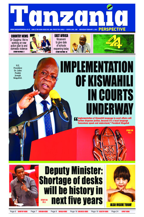IMPLEMENTATION OF KISWAHILI IN COURTS UNDERWAY  | Tanzania Perspective