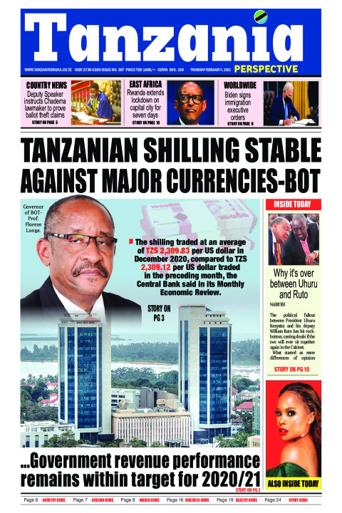 TANZANIAN SHILLING STABLE