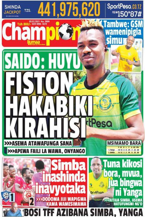 SAIDO: HUYU FISTON HAKABIKI KIRAHISI | Championi Ijumaa