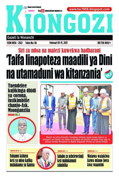 'Taifa linapoteza maadili ya Dini na utamaduni wa kitanzani | Sauti Kuu Newspaper
