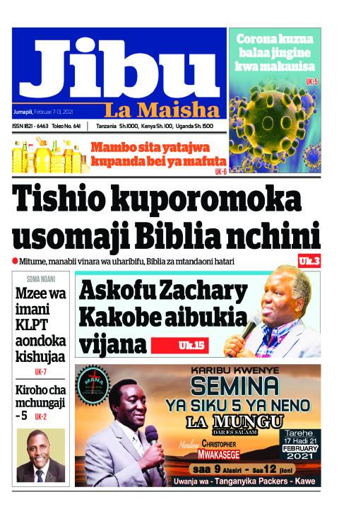 Tishio kuporomoka usomaji Biblia nchini | JIBU LA MAISHA