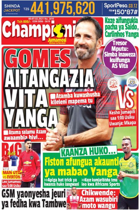 GOMES AITANGAZIA VITA YANGA | Champion Jumamosi