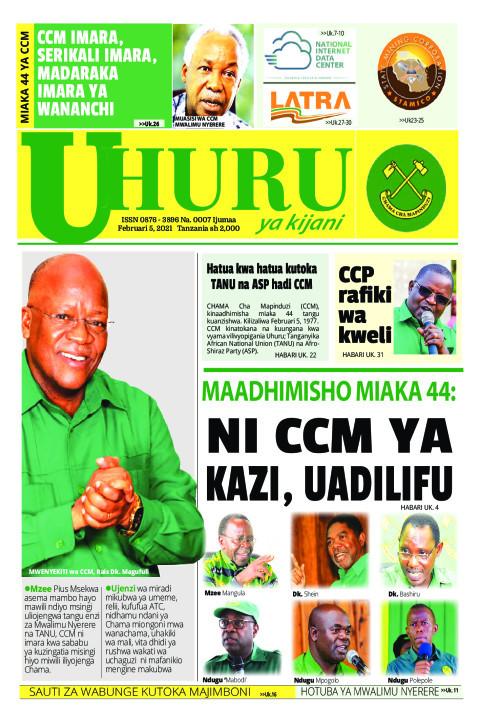 NI CCM YA KAZI, UADILIFU | Uhuru la Kijani