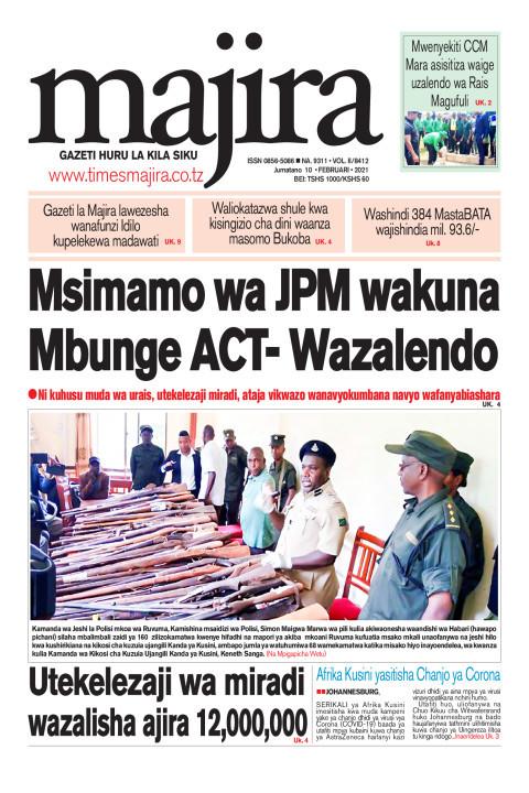 Msimamo wa Magufuli wamfurahisha M'bunge ACT- Wazalendo   MAJIRA