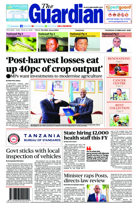 'Post-harvest losses eat up 40pc of crop output' | The Guardian