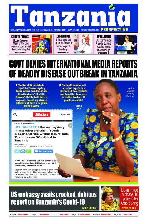 Govt denies international media reports of deadly disease ou | Tanzania Perspective