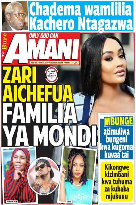 ZARI AICHEFUA FAMILIA YA MONDI | AMANI