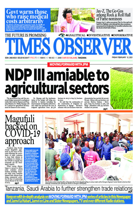 NDP III amiable to agricultural sectors | Times Observer