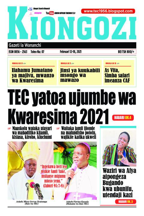 TEC yatoa ujumbe wa Kwaresima 2021 | Kiongozi